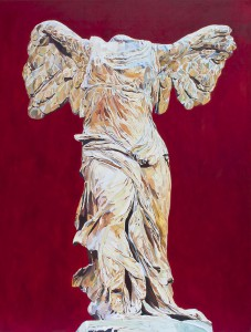 Red Nike 160x120cm oil on canvas 2012